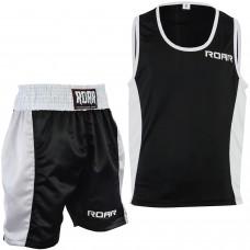 ROAR Boxing Gym Vest & Shorts Set MMA Muay Thai Cloths Sleeveless Top Gym Trunks