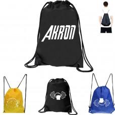ROAR Drawstring Backpack Duffle Sports Cinch Sack Polyster Gym