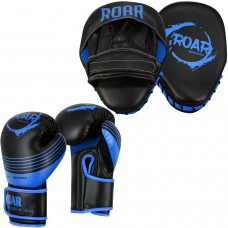 ROAR Curved Focus Pads & Boxing Training Gloves Set