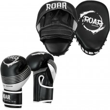 ROAR Curved Focus Pad and Boxing Gloves Sets MMA Muay Thai Jab Training Bag