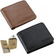ROAR Mens Slim Leather Wallet Bifold Classic Functional RFID Blocking Multi Card