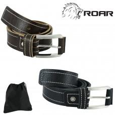 ROAR Men's Top Grain Leather Belt 40mm Dress Casual Wear Regular Big & Tall Size