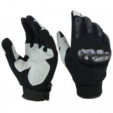 ROAR Mens Air Cooled No Sweat Carbon Fiber Knuckle Motorcycle Gloves Full Finger