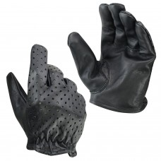 ROAR Men's Motorcycle Perforated Leather Police Style Gloves