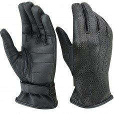 ROAR Ladies Driving Glove Water Resistant Leather Motorcycle Gloves Padded Palm