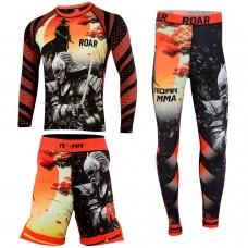 ROAR MMA Leggigng BJJ Rashguards Muay Thai Short Jiu Jitsu Fight & Training Gear