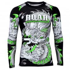 ROAR MMA Rash Guard UFC Fight Training Gym Fitness Full Sleeve Workout BJJ Shirt