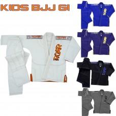 ROAR Kids Jiu Jitsu BJJ Gi Ultra Light Youth Training Gracie Brazilian Suit